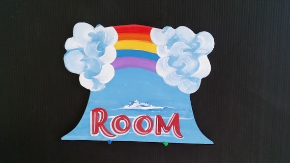 Whimsical Colorful Rainbow Child's Room Wall Hanging Customize with your Name