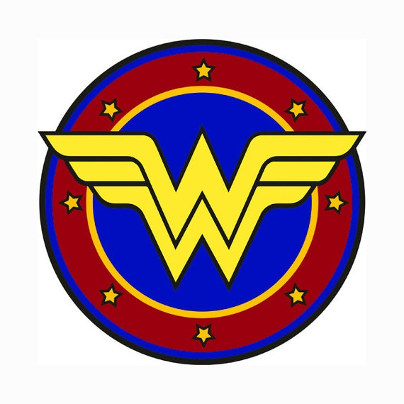 wonder woman llayered svg dxf logo vector file silhouette