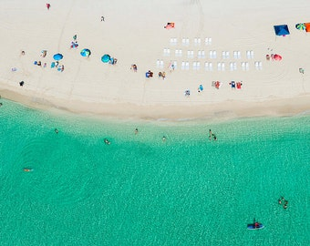 Miami: Aqua Bliss // Aerial Beach Photography // 3 Different Print Sizes
