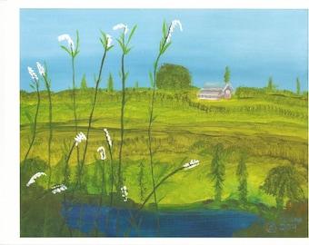 Farm and Landscape in Iowa – My Love of Iowa - Print by Dana Anderson