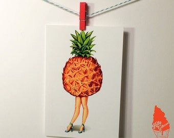 Fruit Stand- Pineapple Postcard