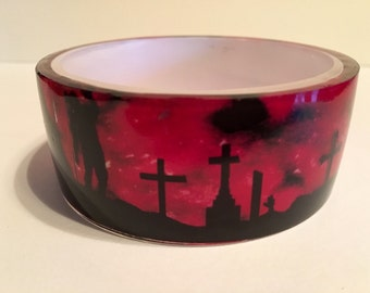 3D bloody zombie graveyard bracelet bangle