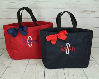 2 Personalized Bridesmaid Gift Tote Bags Wedding, Bridesmaids Gift Tote, Bridesmaid Tote, Bridesmaid Bag, Maid of Honor Gift, Bridal Bag
