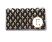 Personalized Checkbook cover - Black and Gold Diamond print  - modern simple pastel, geometric glam - customize with an initial or monogram