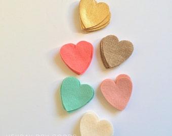 Heart Garland  // Custom //Valentine // Coversation Hearts // Love // Wedding // Baby Shower // Bridal Shower // Photo Prop // Mantle