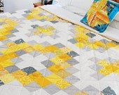 Sunshine Medallion Easy Quilt Pattern PDF, Modern Quilt,Instant Download
