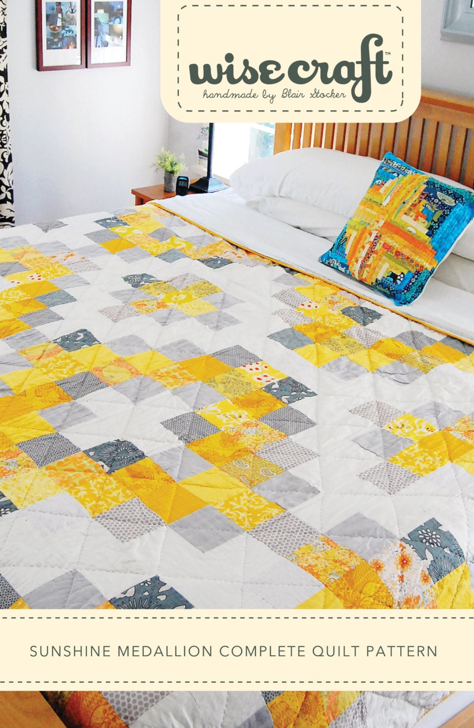 Sunshine Medallion Easy Quilt Pattern Pdf Modern