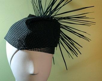 Unique Black Spiky Hat - Punk Rock Hat - Avant Garde Hat - Unique Hat - OOAK