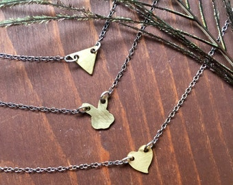 Teeny Tiny Pendants | Brass and Sterling Silver
