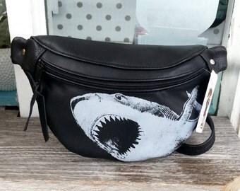 Great white shark fanny pack