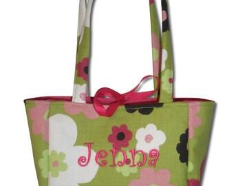 Monogrammed Girl's Girls Purse Bag Tote Custom Little Girl Handbag Personalized Gift Handmade
