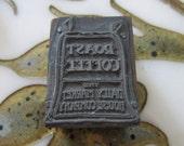 Roast Coffee Bag Vintage Letterpress Printing Block
