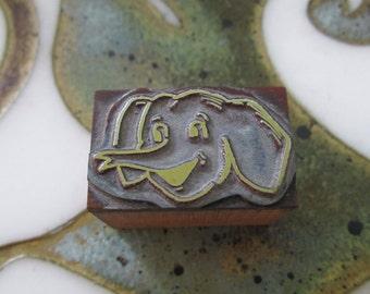 Elephant Vintage Letterpress Printing Block