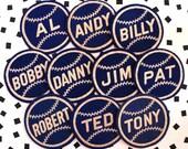 Blue 1950's Varsity/Letterman Felt Baseball Name Patch- Boys Mens- Deadstock Vintage
