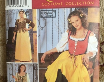 Simplicity Pattern 5582-Renaissance Collection-Womens Sizes 12-20-New, Uncut-Bar Wench, Ren Faires-Andrea Schewe