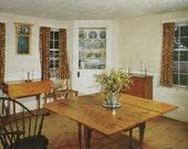 Vintage 1960s Postcard Old Sturbridge Village Massachusetts Richardson Home Dining Historic Home Building Photochrome Era Postally Unused