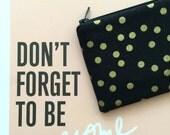 Gold Dots Unisex Pouch - wallet - zipper pouch - change purse