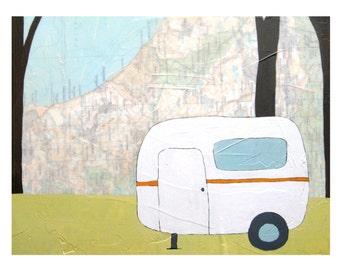 Oceanside Map Print // Camper Print // Travel Art // Airstream Art // Camping // Modern Kid Art // Modern Decor // Rachel Austin Art 11x14