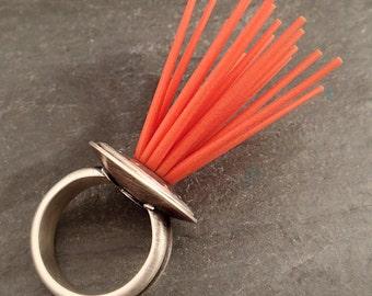 Sea Urchin Ring -- Statement Ring