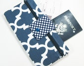 Travel Wallet Passport Cover Travel Organizer with Zipper Pouch - Navy Fulton