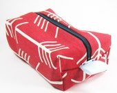 Makeup Bag / Cosmetic Bag/ Travel Bag / Toiletry Bag - Red Arrows