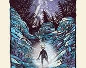 Milky Way - Screenprinted Art Print