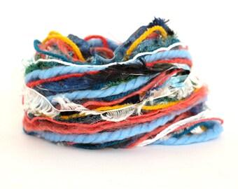 Mixed fibers, Creative Yarn Variety Pack, Marine Life, 30 metres, orange gold sea blue, inspiration craft supplies, coral fish waves, uk