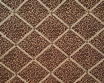 Metro Living Leopard Cheetah Spotted Animal Print French Ribbon Memo Board - READY TO SHIP