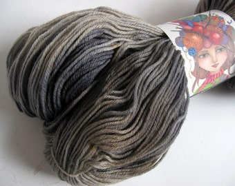 Hand Dyed Superwash Merino Wool & Nylon Fingering Weight Yarn, Knitting Yarn, Sock Yarn Indie Dyer, 462 Yards, Gray Tonal