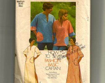 Simplicity Misses' and Men's Caftan or Pullover Top Pattern 6835