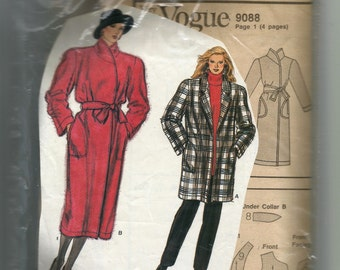 Vogue Misses' Coat Pattern 9088