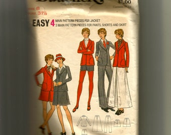 Butterick Misses' and Junior Jacket, Skirt, Pants, and Shorts Pattern 6725
