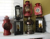 Chippy Old Lanterns / Railroad / Wick / Glass / Outdoor decoration