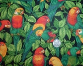 Quilt Fabric Destash Tropical Parrots in the Trees VIP  by the Half Yard