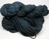 Born to be Blue - Salsa Monkey worsted weight kettle dyed 100% Merino navy blue tonal