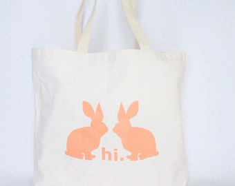 Bunny Tote Bag- Recycled Cotton