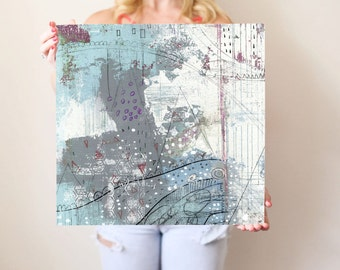 Abstract Canvas Art Print, Contempporary Wall Art , Art for the Office