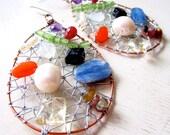 Gemstone GODDESS Statement Earrings - Ruby, Kyanite, Amethyst, Rainbow Moonstone, Pearls, Citrine, Peridot Tourmaline - Etsy Jewelry Rainbow