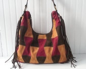 Bohemian Fringe Bag/Purse Suede Leather Boho Bag