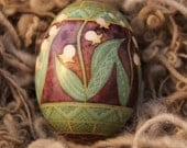 Pysanky Lily of Valley Duck egg