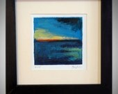 Daily Painting  Small Oil Painting Artwork - 14x14 Frame - Abstracct Fine Art by Ben Will