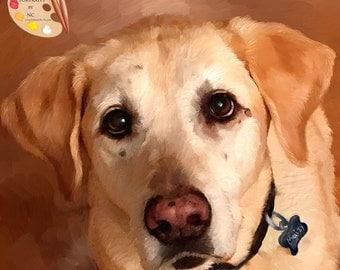 Labrador Portraits - Labrador Dog Paintings - Pet Portraits by NC