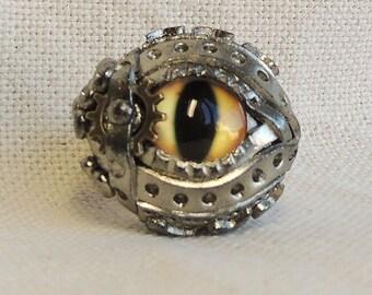 eye polymer clay  ring