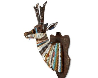 Faux Taxidermy Wall Sculpture Pronghorn