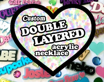 2 custom necklaces reserved for Megan