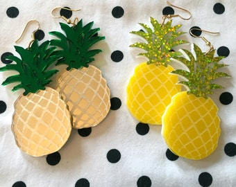 Pineapple Laser Cut Acrylic Earrings