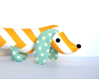 Wiener Dog Softie for Kids Toy Stuffed Dachshund SUNSHINE
