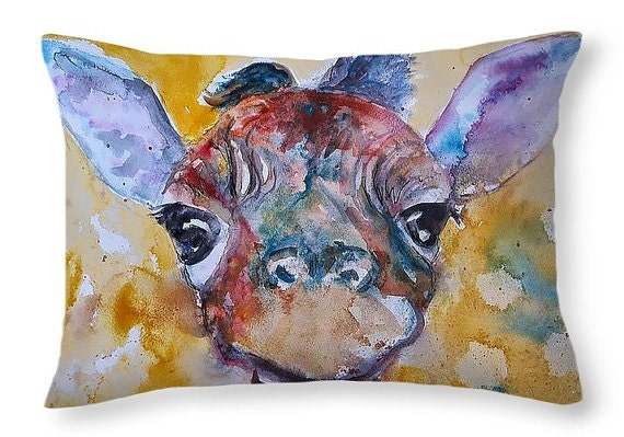 Zoo Animal Pillows : Giraffe Pillow Cute pillows Throw cushions for couch Giraffe