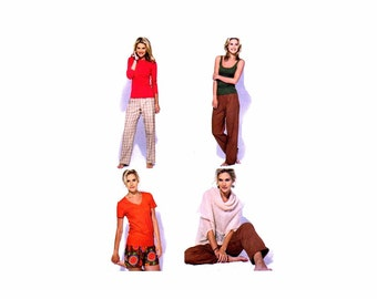Misses Tops Shorts Pants McCalls 6658 Sewing Pattern Size 4 - 6 - 8 - 10 - 12 - 14 Bust 29 1/2 - 30 1/2 - 31 1/2 - 32 1/2 - 34 - 36 Uncut