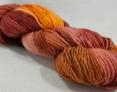 NEW Yarn Hollow Wise Goat Hand Hand Dyed Single Ply Wool/Mohair Fire Smudge OOAK Multi Color